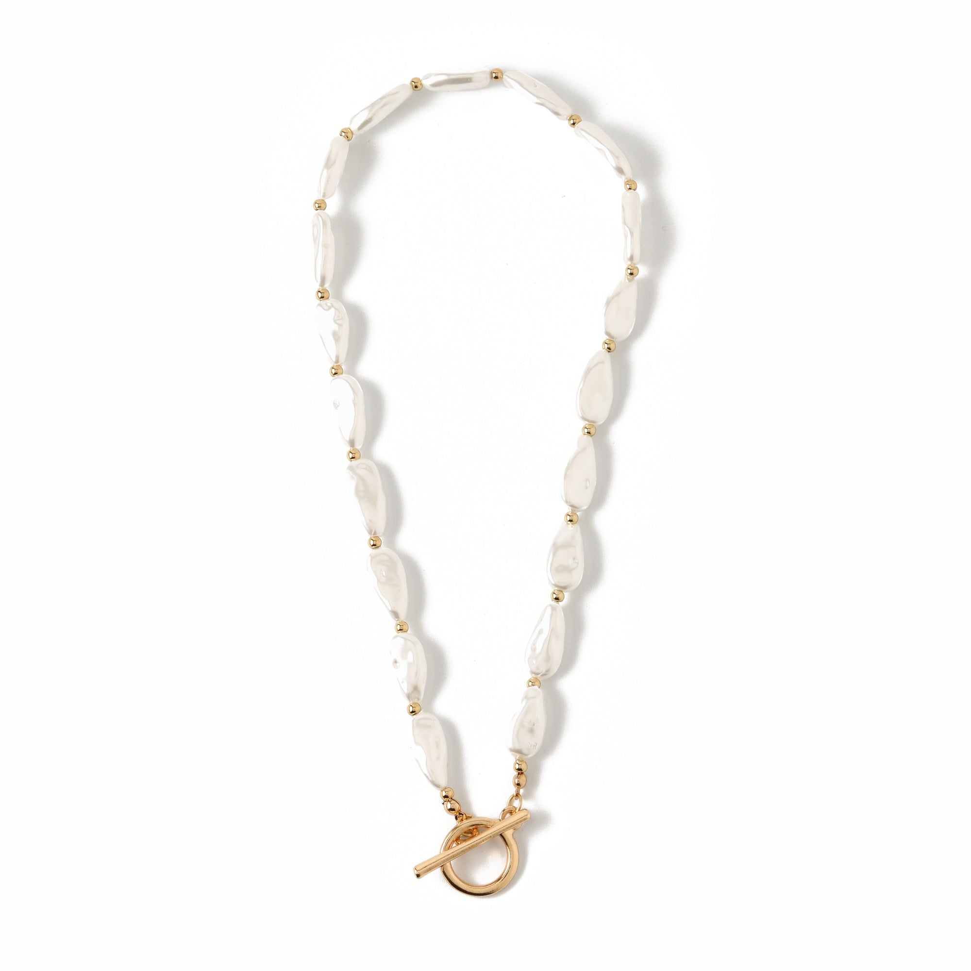 Pearl & Bead T-Bar Necklace