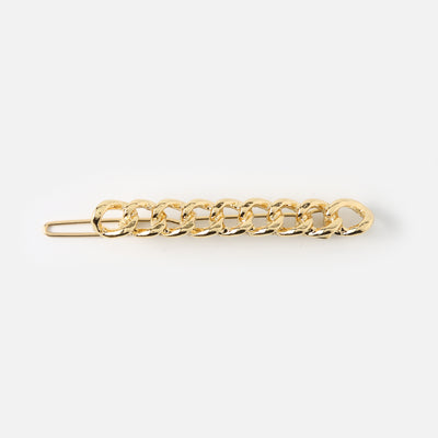Gold Chain Link Hair Clip