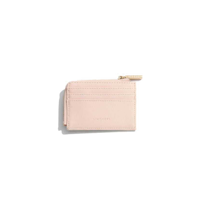 Stackers Zipped Card Holder-Blush