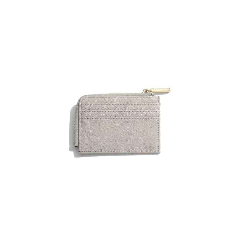 Stackers Zipped Card Holder-Taupe