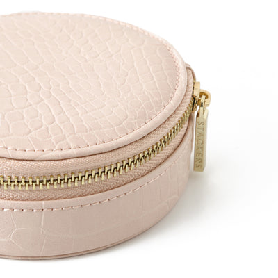Stackers Round Travel Jewellery Case-Blush