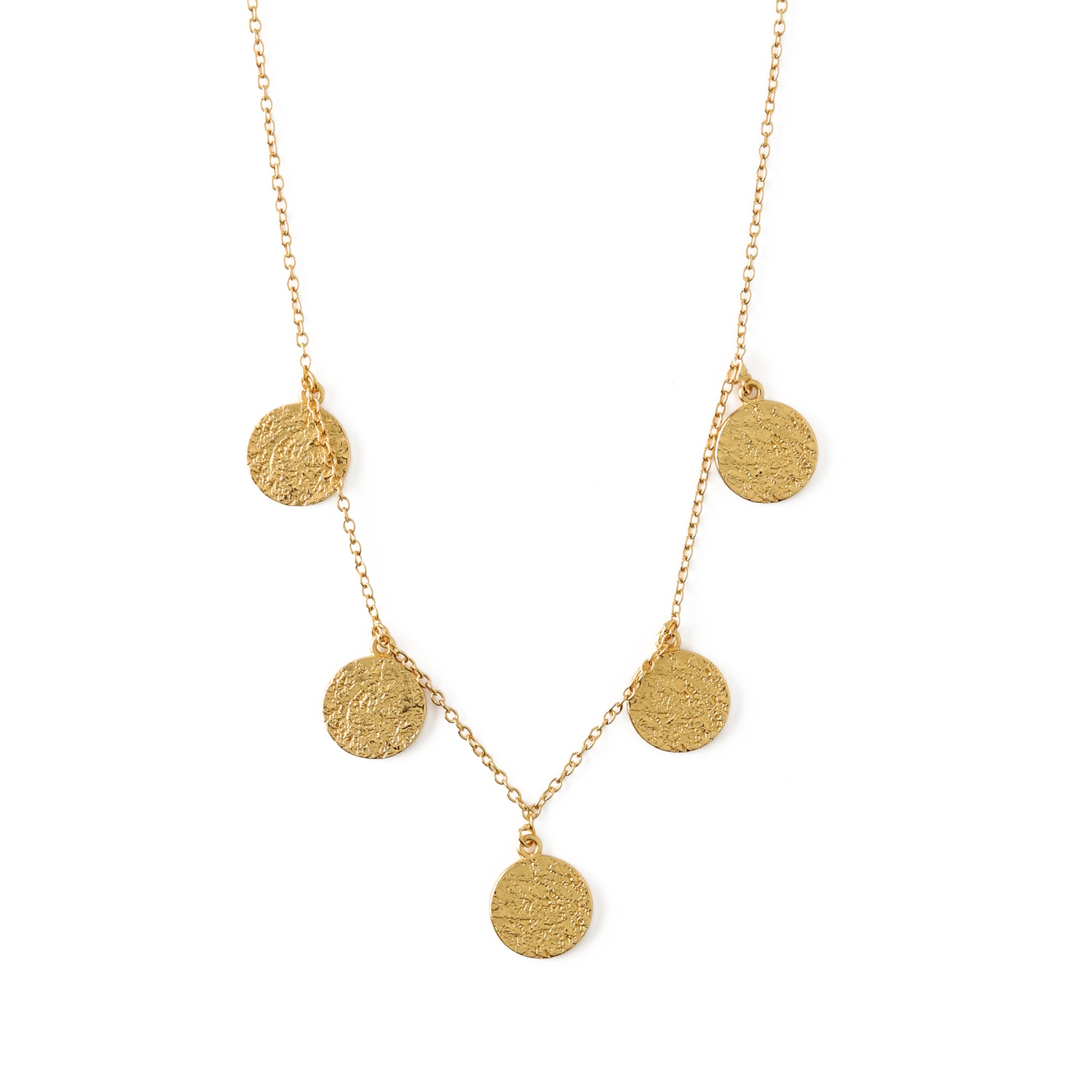 LUXE Hammered 5 Disc Necklace