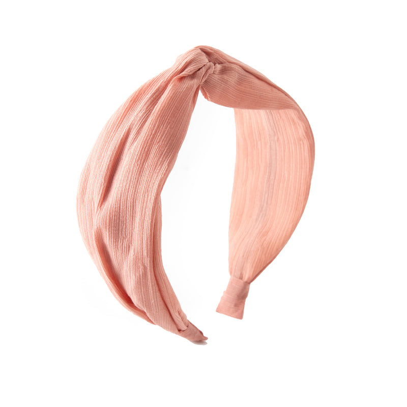 Blush Crinkle Turban Headband