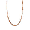 Flat Link Curb Chain Necklace - Rose Gold