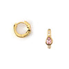 Blush Teardrop Huggie Hoop Earrings