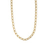 Flat Oval Link Chain Necklace