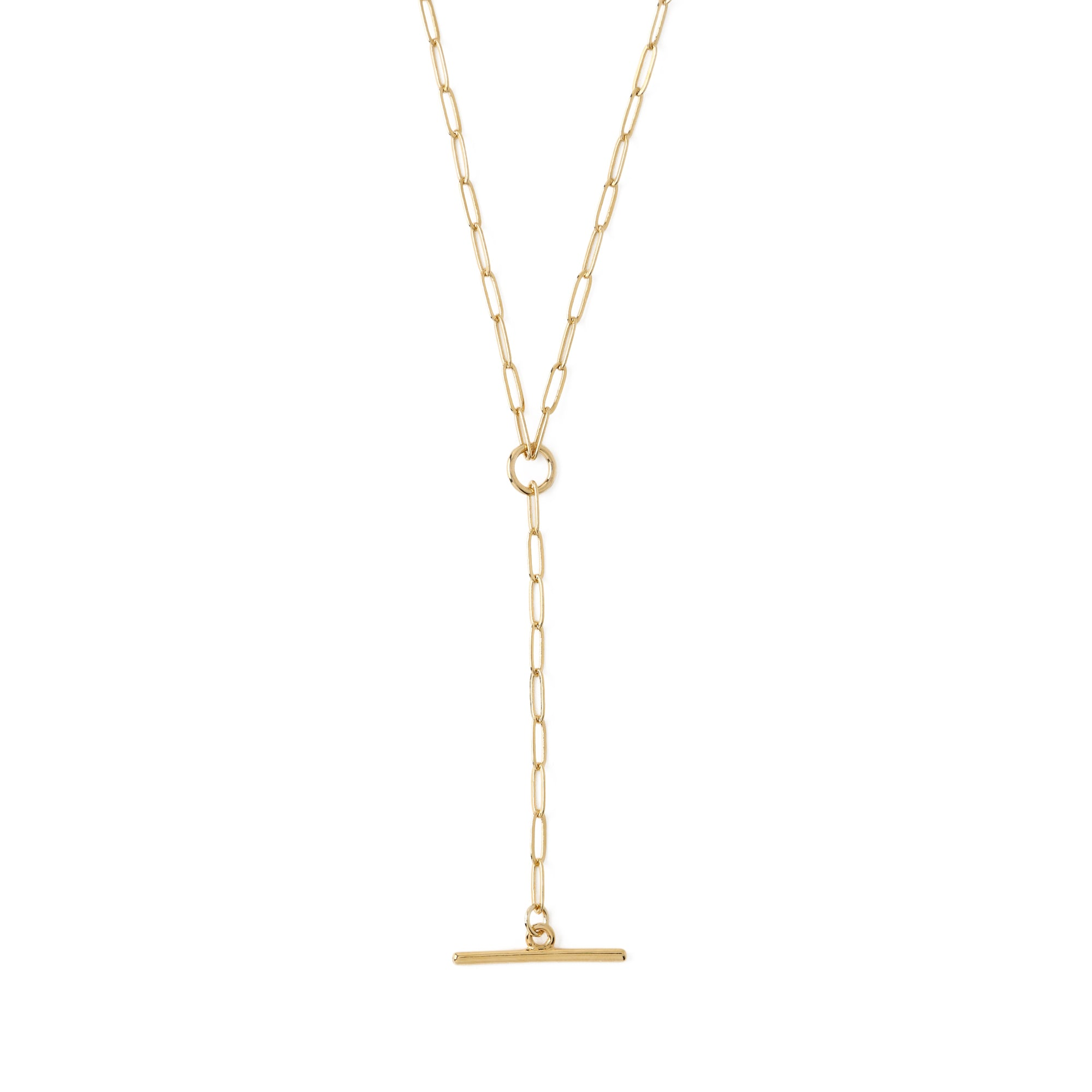 T-Bar & Chain Link Lariat Necklace