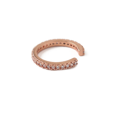 Fine Pave Ear Cuff - Rose Gold