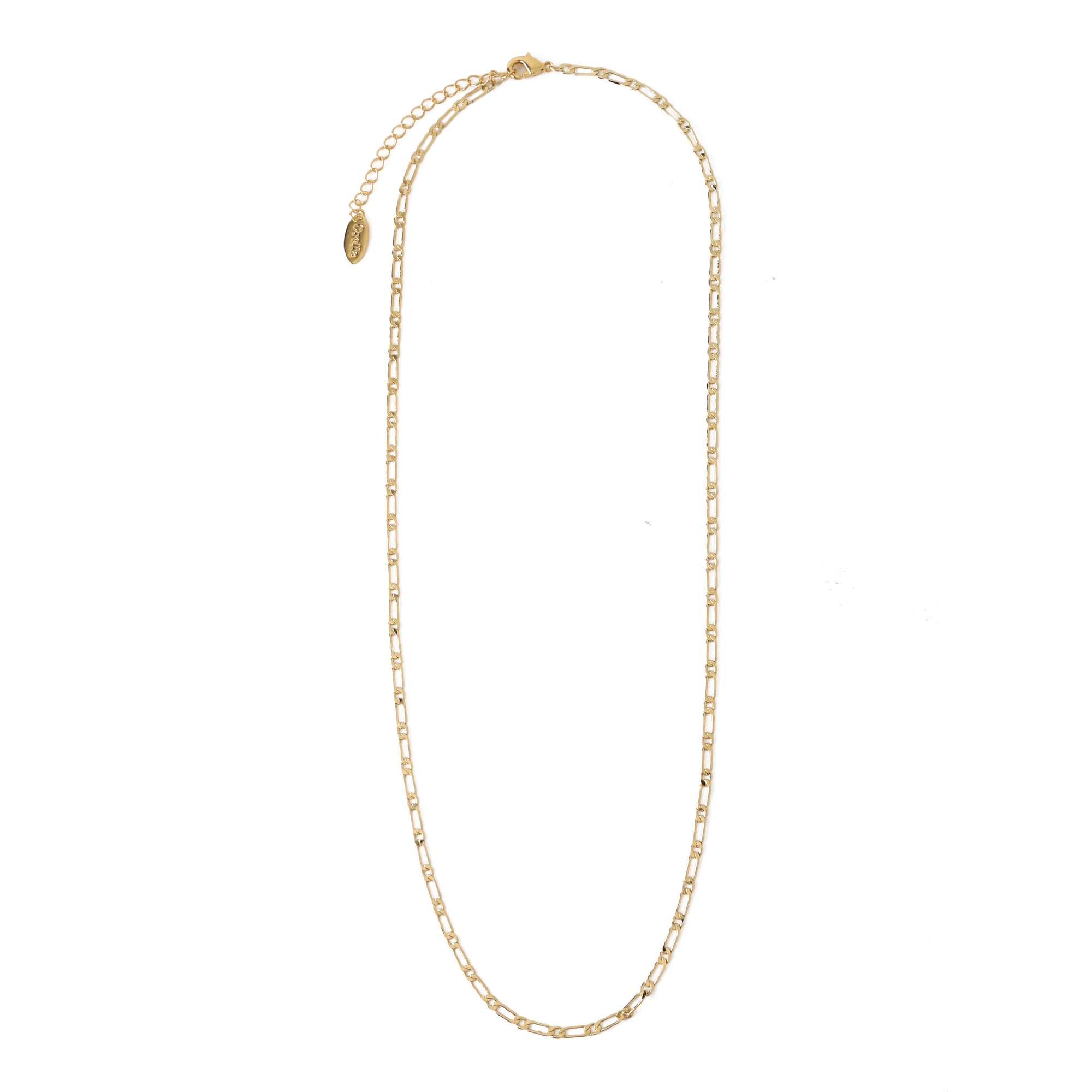 Flat Dainty Figaro Chain Necklace