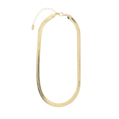 Chunky Flat Snake Chain Necklace