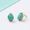 Fine Gold Plated Semi Precious Crystal Earrings