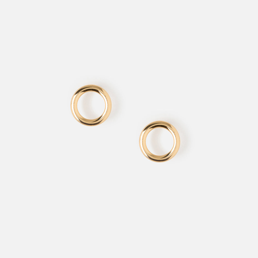 earrings circle gold open solid karma shop stud