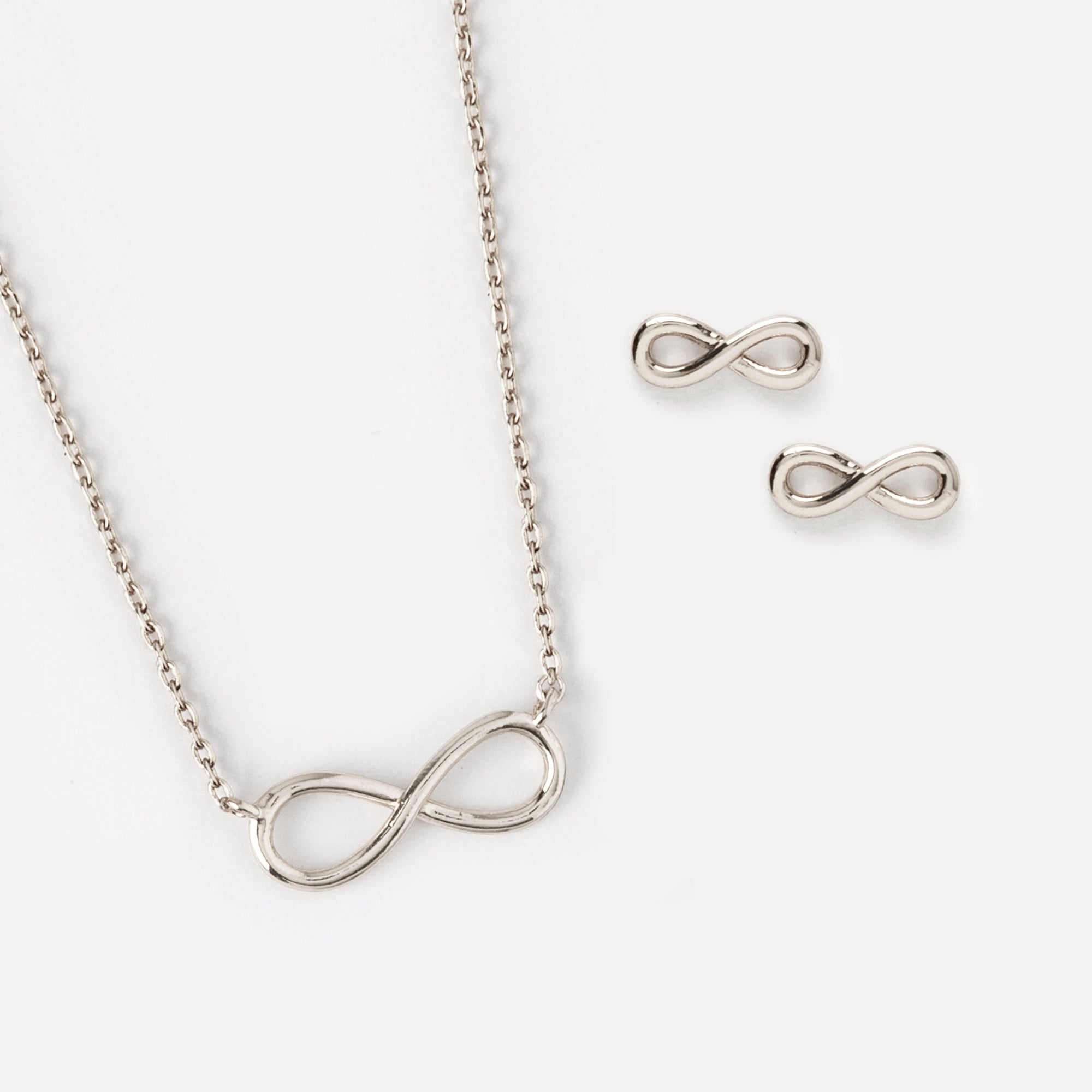 in necklace white gold infinity silver