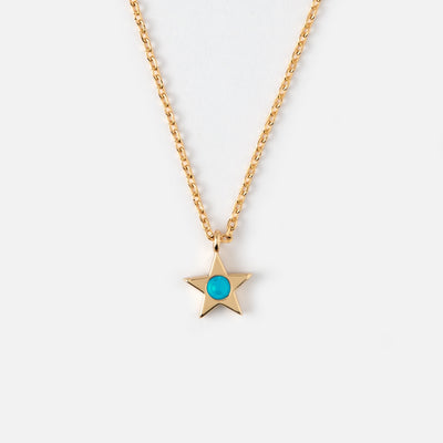 Star Necklace With Turquoise Stone