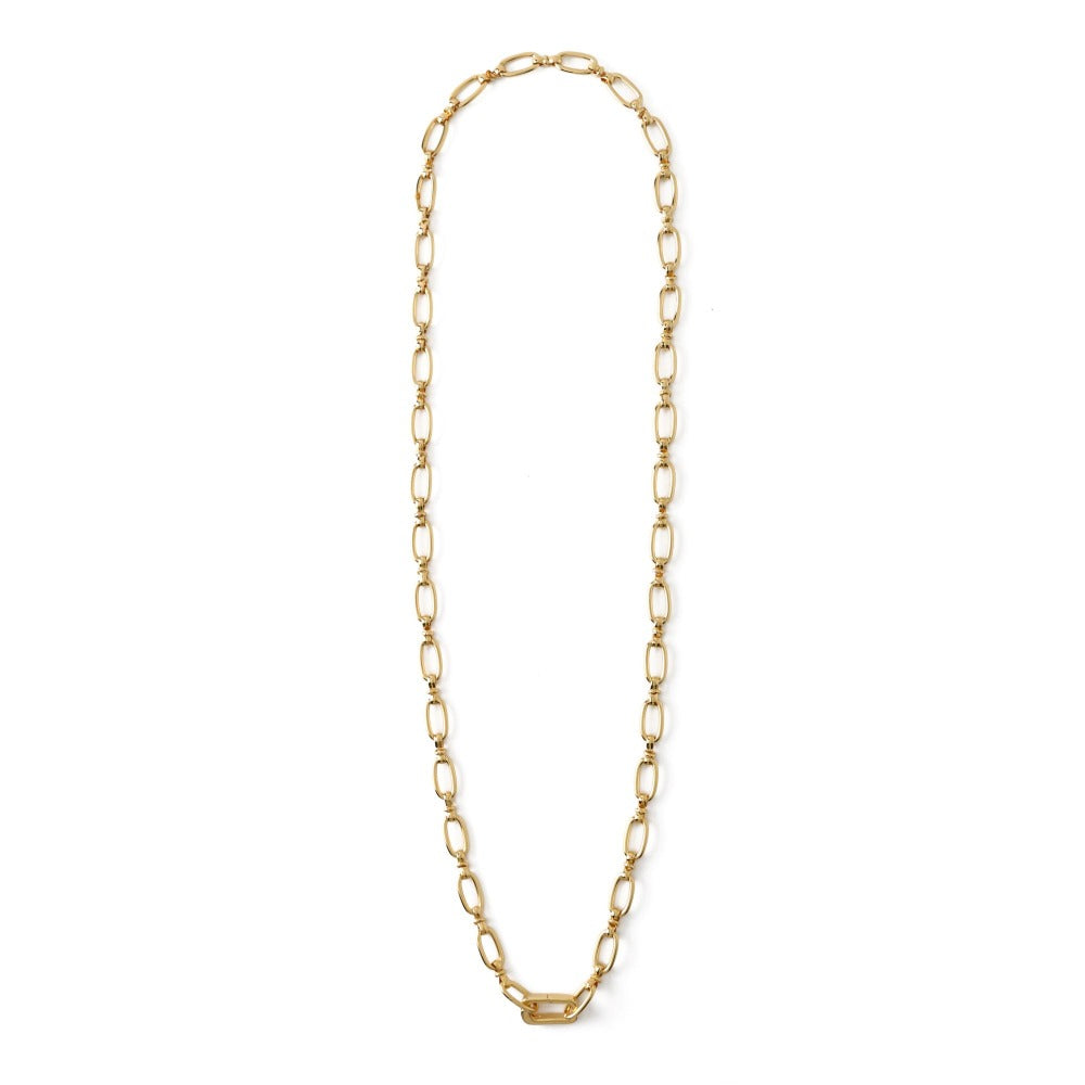 Oval Link Adjustable Clip Necklace