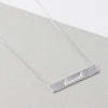 Sterling Silver Loved Bar Necklace