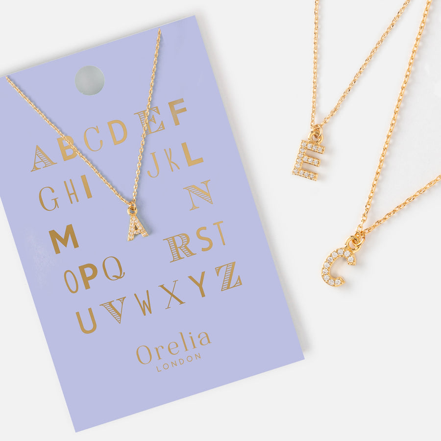 yellow gold chains pendant initial c hammered pjimage initials chain trace