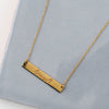 Gold Plated Loved Bar Necklace