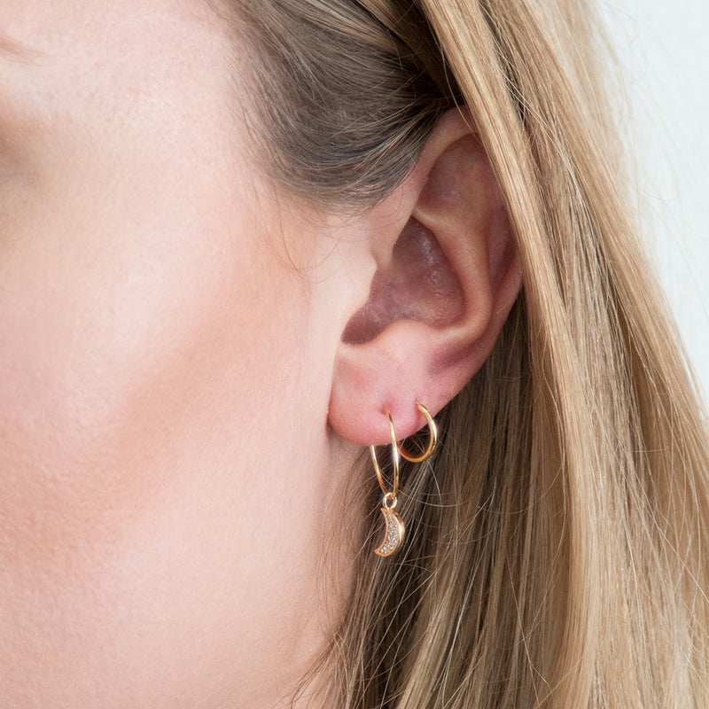 Micro Hoop Earrings - Gold