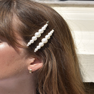 Double Pearl Hair Slide