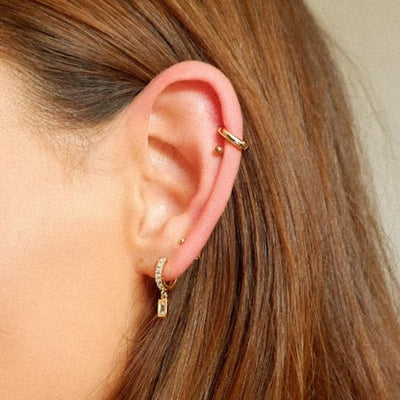 LUXE Baguette Huggie Hoop Ear Party