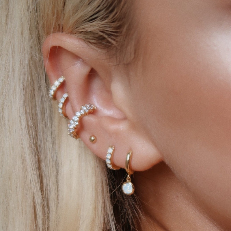 Crystal Cluster Single Ear Cuff