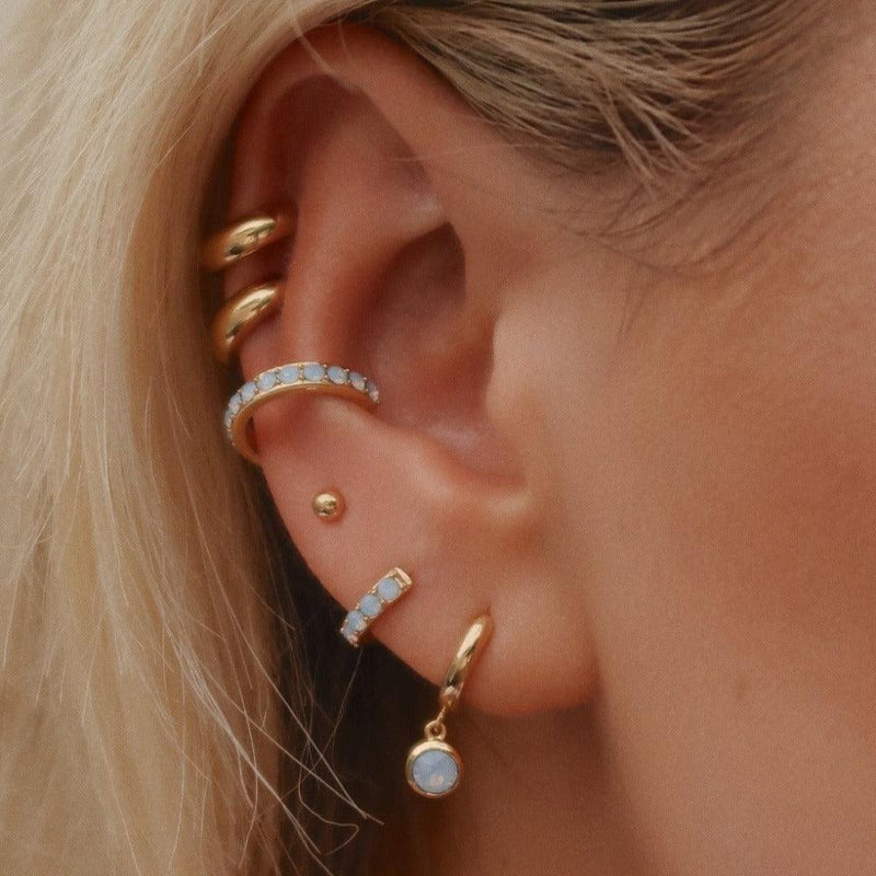 Swarovski Air Blue Opal Ear Party