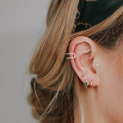 Fine Pave Two Row Ear Cuff