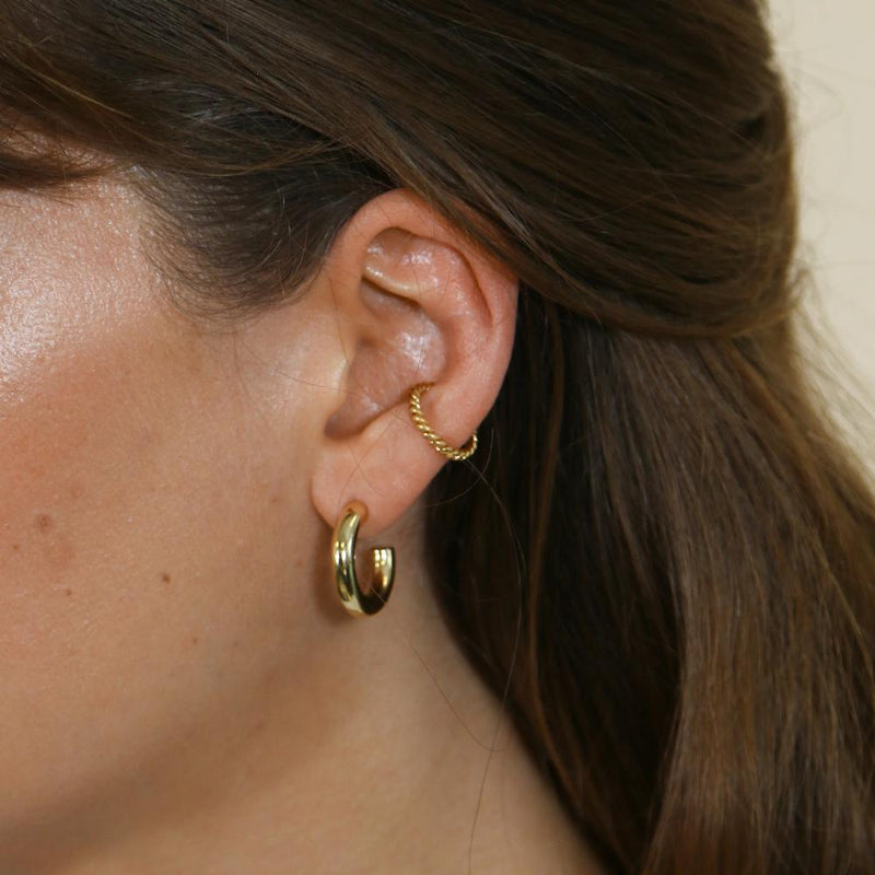 Rope Twist Ear Cuff - Gold