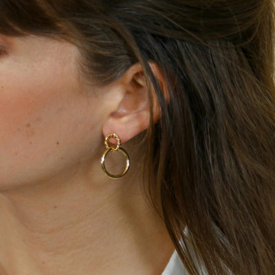 Rope Twist Interlocked Hoop Earrings