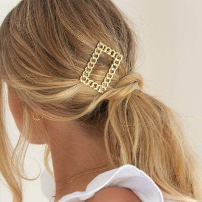 Rectangle Rope Chain Hair Clip
