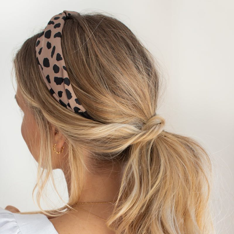 Blush Leopard Turban Headband