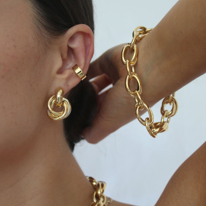 Statement Interlocking Earrings