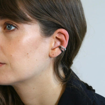 Star Ear Cuff-Gunmetal