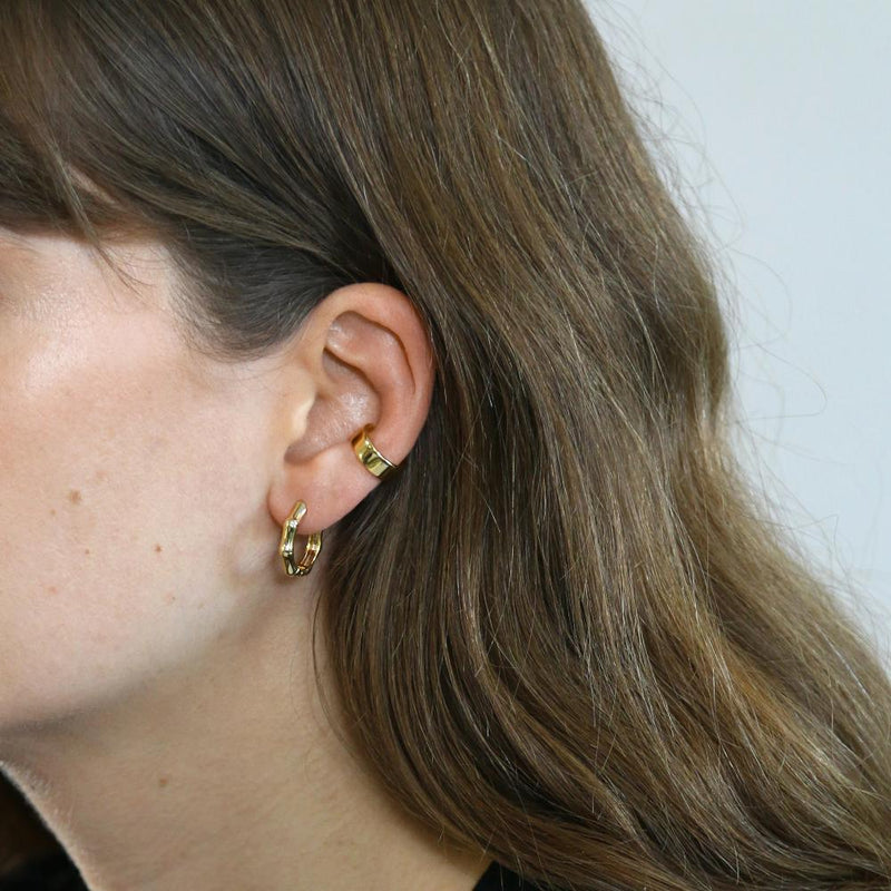 Chunky Plain Ear Cuff-Gold