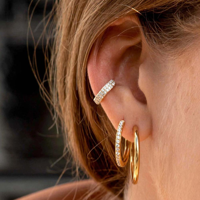 LUXE Domed Pave Ear Cuff
