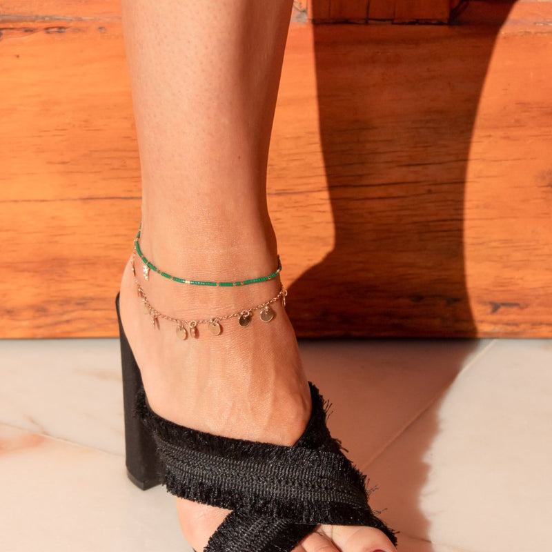 Coin Drop Anklet