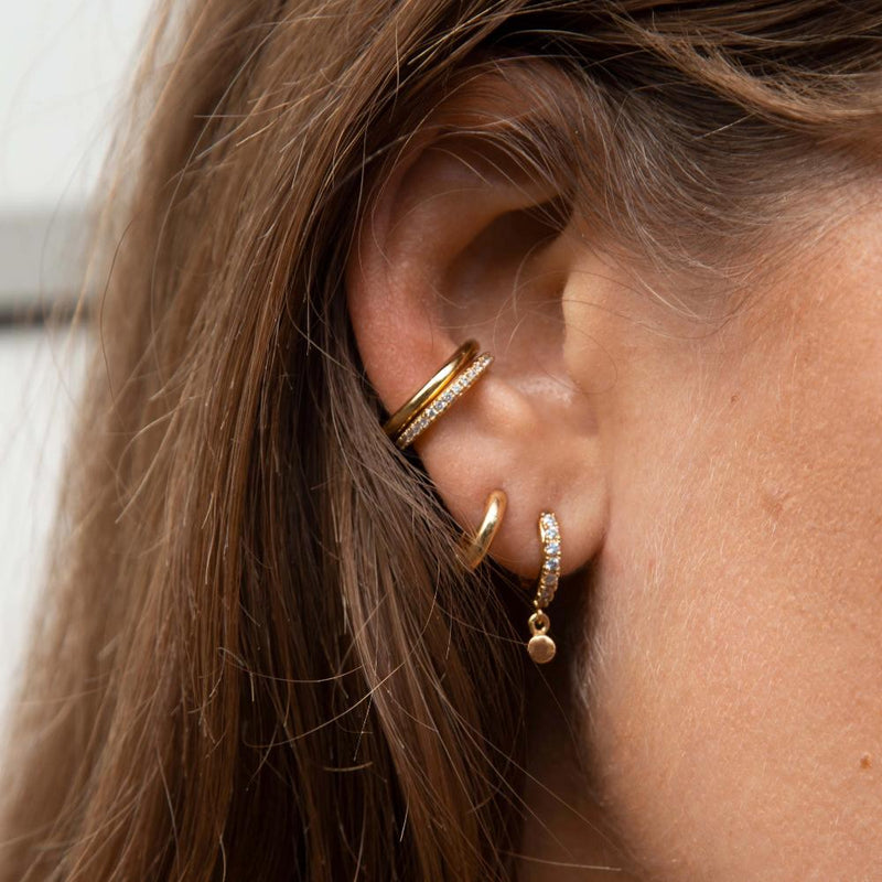 LUXE Disc Drop Huggie & Cuff Ear Party