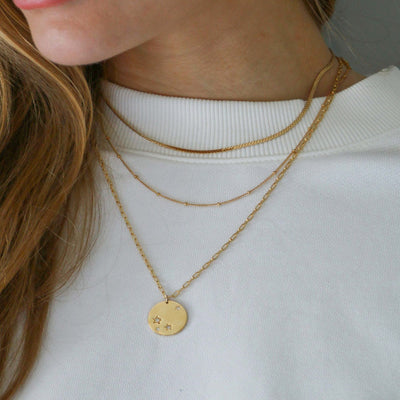 Starburst Disc Chunky Chain Necklace