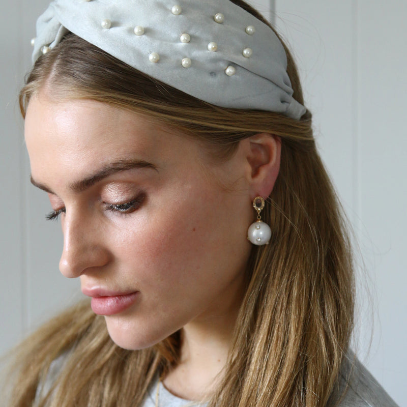 Statement Embellished Pearl Earrings