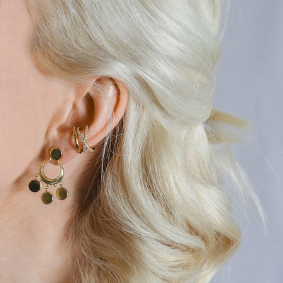 Crossover Pave Ear Cuff