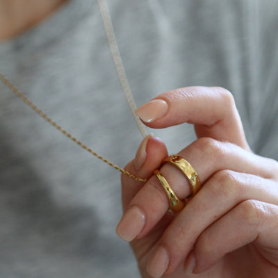 Double Ring Thread Through Necklace