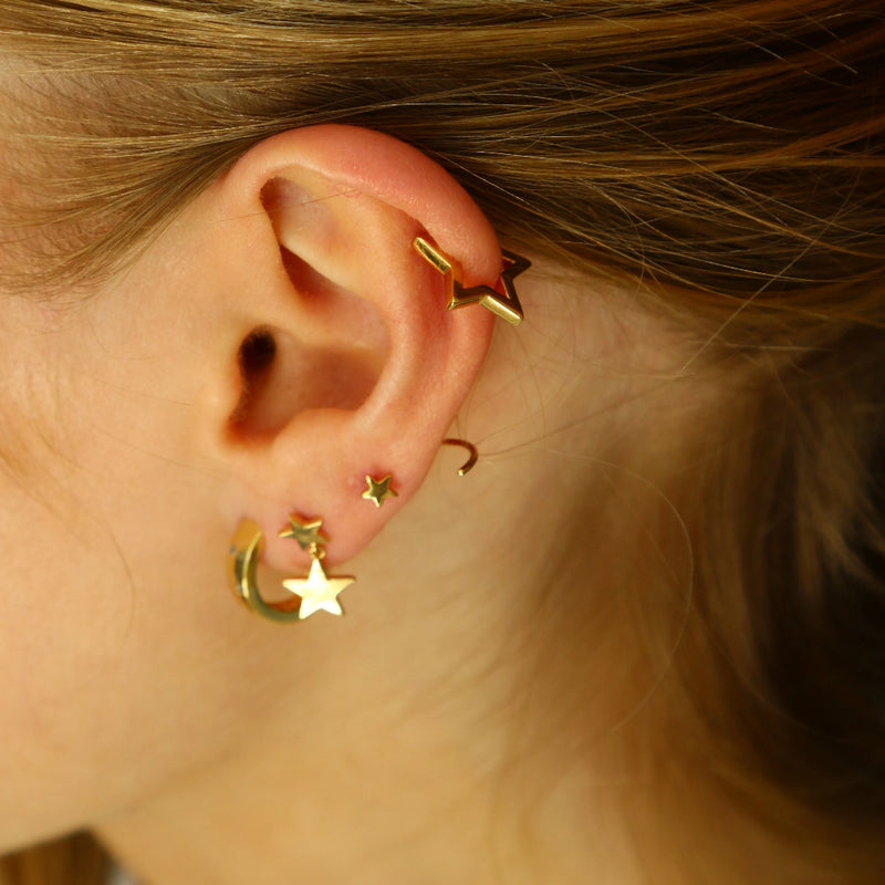 Cutout Star Ear Cuff