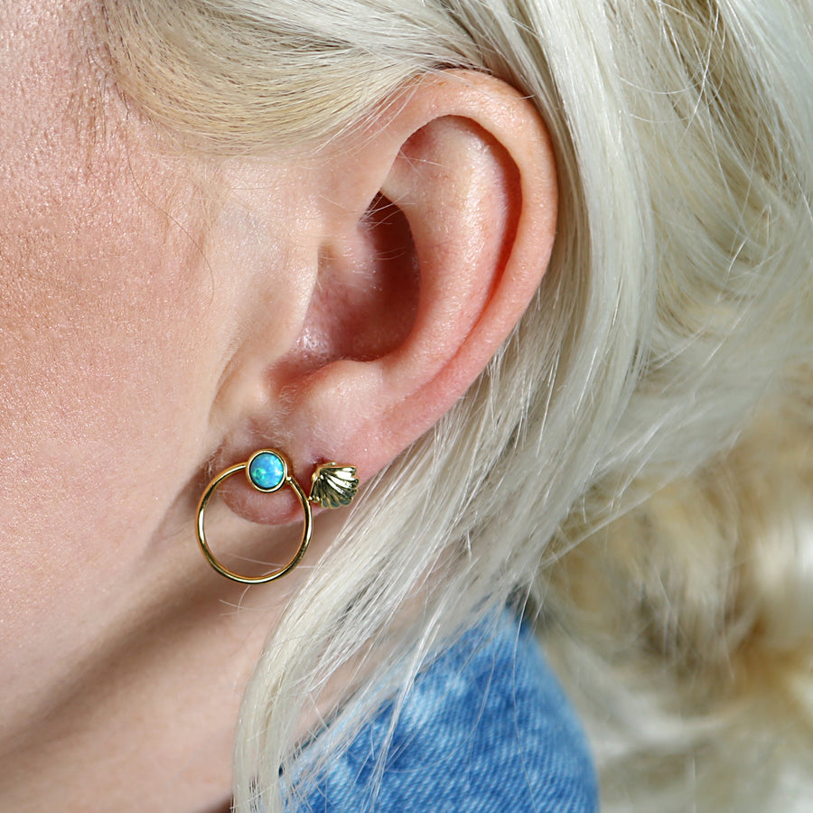 Opal Front Facing Hoops