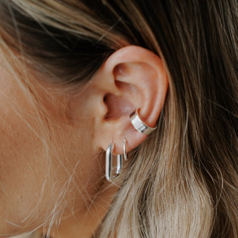 Micro Hoop Earrings - Silver