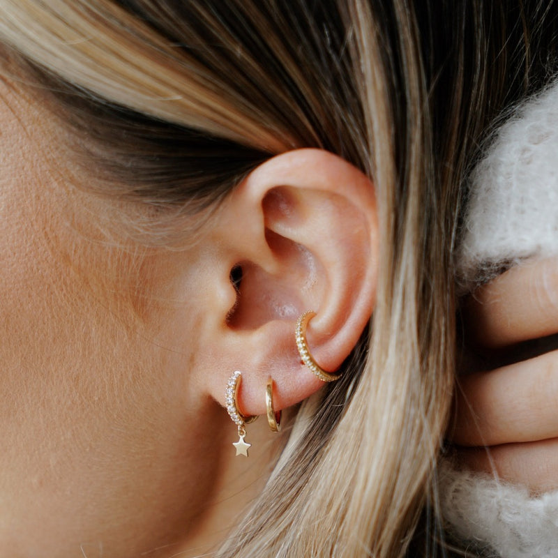 Fine Pave Ear Cuff - Gold