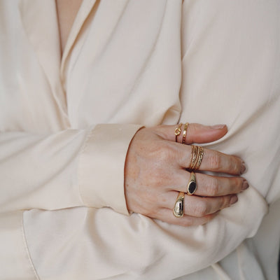 LUXE Oval Signet Ring