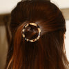 Resin Open Circle Hair Clip