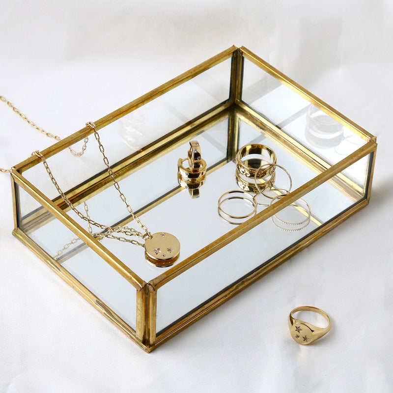 Medium Mirrored Trinket Tray