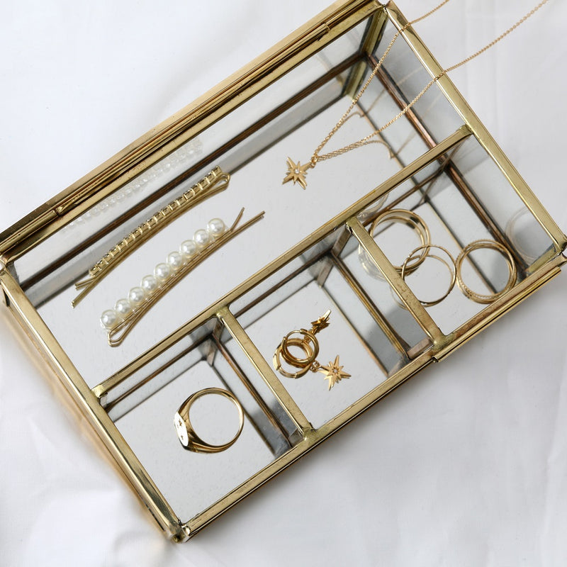 Small Mirrored Jewellery Box